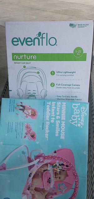 Brand new Baby Car seat & Bouncer! for Sale in Spokane, WA