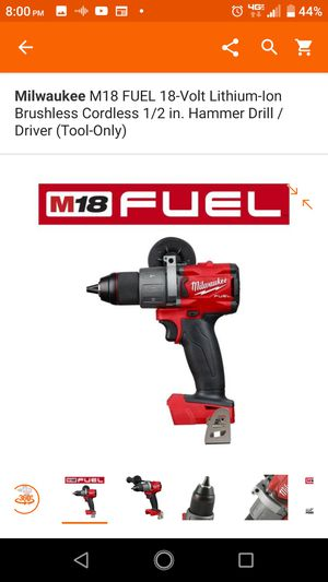 Milwaukee M18 Fuel Brushless Hammer Drill TOOL ONLY for Sale in Highland, CA