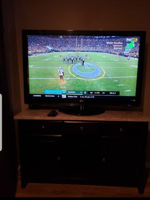 LG 55 Inch TV & Marble Buffet/Stand for Sale in Detroit, MI