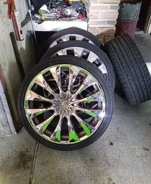 20 inch rims with 255-35zr20s in good shape for Sale in St. Petersburg, FL