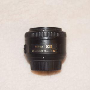 Nikon 35mm PRIME camera lens for Sale in Los Angeles, CA