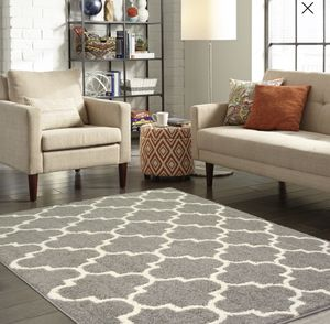 Area Rug Decoration for Living Room, Dining Room, Office Bedroom Gray no Cream OR Cream on Gray for Sale in Bluffdale, UT