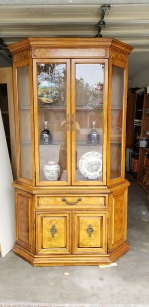Display Cabinet, Solid Wood in Beautiful Condition, Price Firm for Sale in Westminster, CA