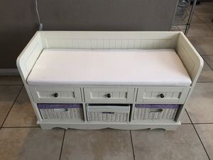Storage and Bench for kids excellent condition for Sale in Henderson, NV