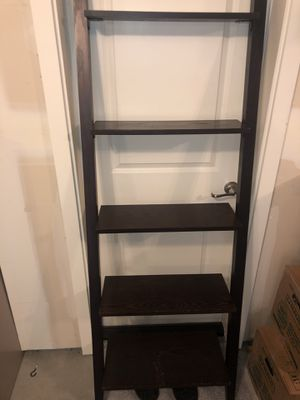 Brown Book Shelf/ Picture Ladder Shelf for Sale in Seattle, WA