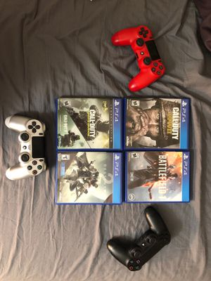 PS4 games with 3 controllers for Sale in Rockville, MD