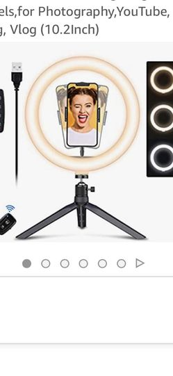 Selfie Ring Light With Tripod Stand for Sale in Dallas,  TX