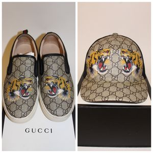 Gucci Print Gucci Slip Ons Gucci hat for Sale in Menifee, CA