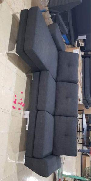 "Scott Gray 100"" Reversible Sofa Chaise for Sale in Houston, TX"