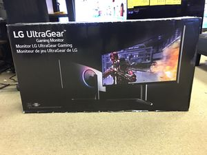 "LG 38"" UltraGear™ Gaming Monitor NVIDIA G-SYNC Curved WQHD Nano IPS 1ms 144Hz HDR Model 38GL950G-B for Sale in Duluth, GA"