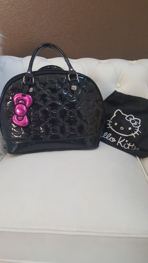 Hello kitty loungefly black purse great used condition. Very clean for Sale in Delhi, CA