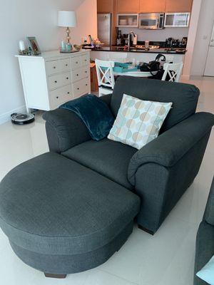 Sofa Chair + Ottoman for Sale in Miami, FL