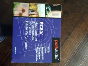 Polk audio RC80i 2-way for Sale in Apex, NC