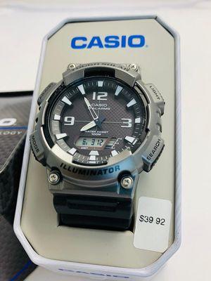 MEN'S CASIO AQS810W-14TN WATCH ILLUMINATOR TOUGH SOLAR WORLD TIME 5 ALARMS NEW for Sale in Aldie, VA