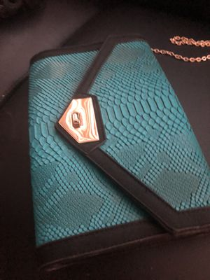 Turquoise blue clutch for Sale in Fort Washington, MD