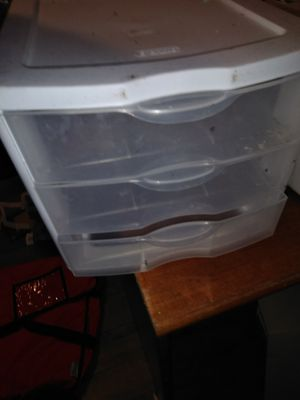 Three Drawer Plastic Organizer for Sale in Denver, CO