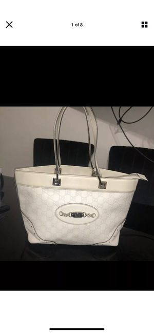 Gucci leather white bag limited edition tote for Sale in Glendale, CA