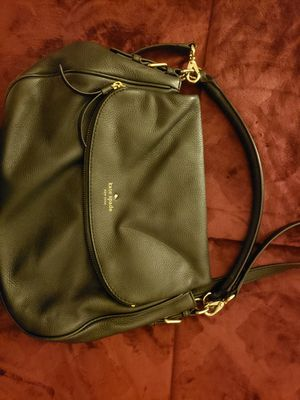 Black leather Kate spade used messenger large bag for Sale in San Diego, CA