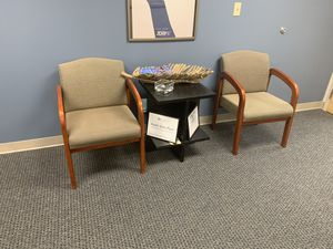 Two chairs and side table for Sale in Virginia Beach, VA