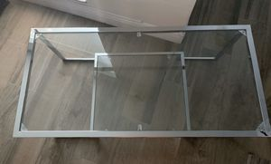 Chrome and Glass Coffee Table for Sale in Hollywood, FL