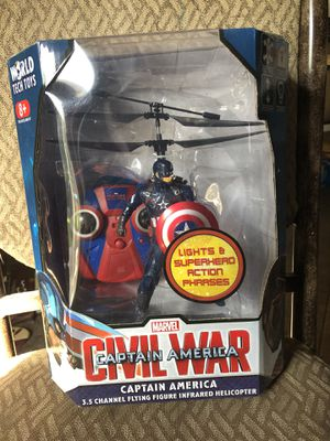 Captain America flying toy for Sale in Rialto, CA
