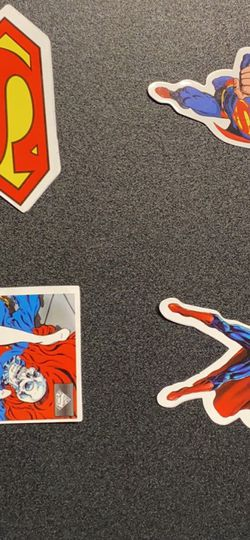 Superman Stickers Lot Of 4 for Sale in Bedford,  MA
