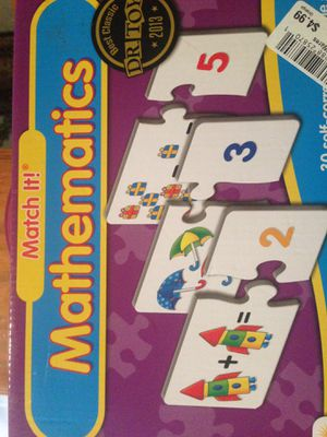 Match it math game puzzle piece for Sale in Winter Garden, FL