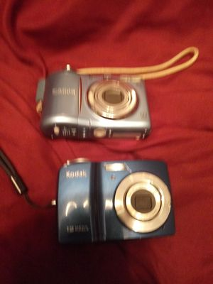 Canon pc1354 and a Kodak easy share cd82 DIGITAL cameras for Sale in Pittsburgh, PA