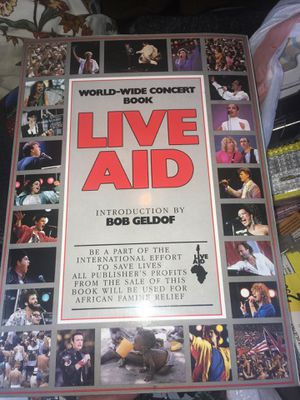 Live aid book $5 in good condition for Sale in Fontana, CA