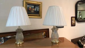 Crystal/glass nightstand lamps for Sale in Frederick, MD