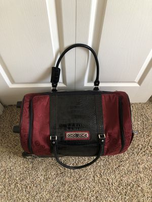 Brighton Rolling Luggage Dufflel Bag Red Croc Leather for Sale in Tampa, FL