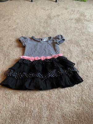 Girls size 6x pretty flower, dots, n stripes dress for Sale in Medford, NJ