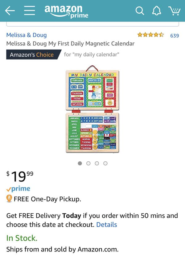 Melissa And Doug My Magnet Responsibility Chart My Daily Calendar