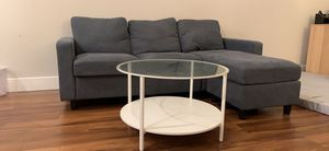 L-Shaped Sofa Couch + Free Coffee Table for Sale in Santa Clara, CA