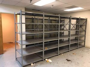 "Metal 5-Section Industrial Shelving 180"" X 36"" X 87""H 6-shelf Warehouse Storage for Sale in Cerritos, CA"