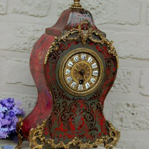 French-antique-boulle-Devil head mantel-clock for Sale in Los Angeles, CA