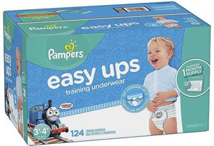 Pampers easy up diapers size 3/4t- boys for Sale in Downey, CA