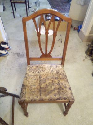 Antique wood chair for Sale in Pasadena, CA