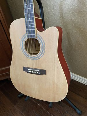 Full Size Country Acoustic Guitar with Cover, Pick Excellent Condition $100 Firm for Sale in Arlington, TX