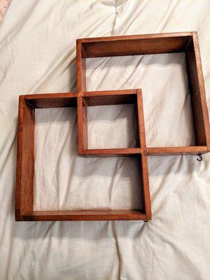 Handcrafted geometric shelf circa 1960s, handmade vintage for Sale in Tucson, AZ