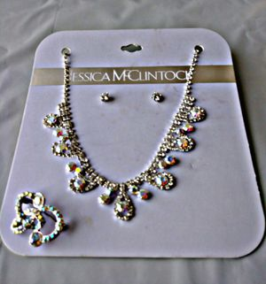Jessica Mc Clintock ® Diamond and Jewel in Silver Set of X3 for Sale in Las Vegas, NV