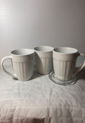 CorningWare French White Tableware Mugs for Sale in Texas City, TX