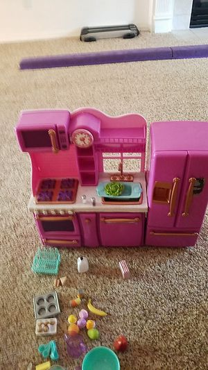 Doll size play kitchen with extras Our Generation. for Sale in Hillsboro, OR