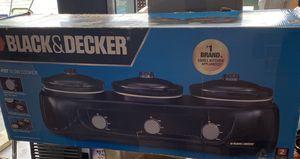 Black & Decker 3-Pot Slow Cooker for Sale in Murfreesboro, TN