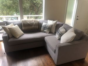 Beautiful grey sectional couch for Sale in Mount MADONNA, CA