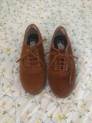 Brown Seude Shoes> Vans < Women's 7.5/Men 6 for Sale in Redding, CA