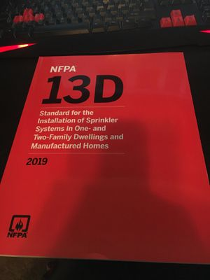 NFPA 13D Standard for the installation of sprinkler systems in one and two family dwellings and manufactured homes for Sale in Tempe, AZ