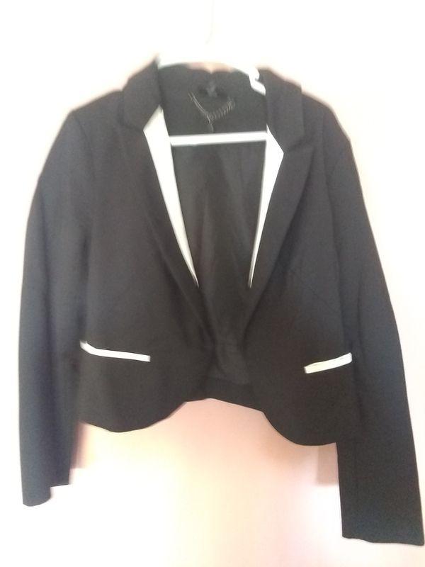 Black and White dress coat