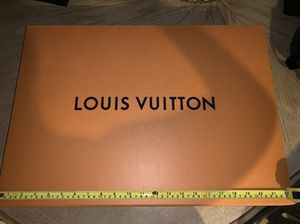 Louis Vuitton box brand new 22 by 16 inches / bag squished a bit. for Sale in Riverside, CA