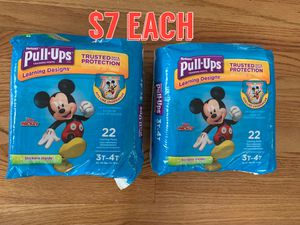Huggies pull ups size 3t - 4t for Sale in Niles, IL